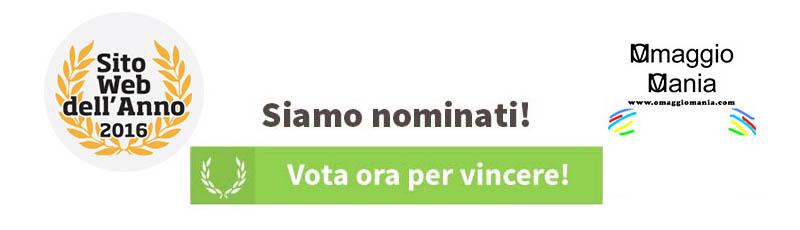 vota OmaggioMania sito web dell'anno 2016