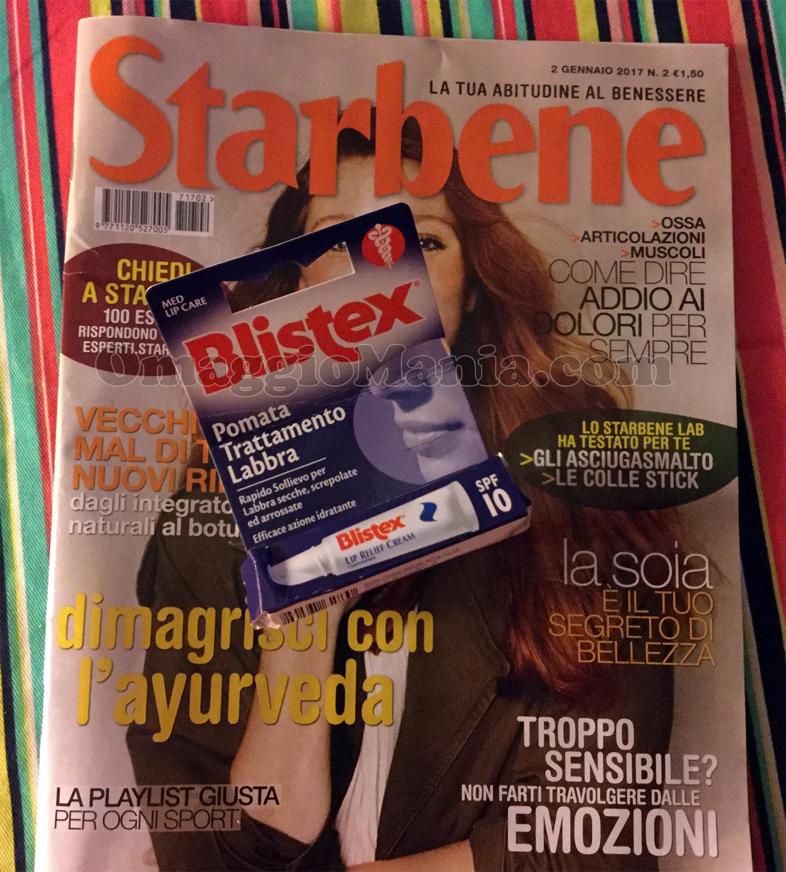 Blistex omaggio con Starbene di Ginevra