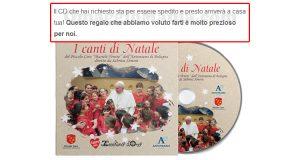 CD I Canti di Natale Piccolo Coro aggiornamento spedizione