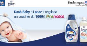 Dash Baby e Lenor ti regalano voucher Prénatal da 1.000 euro