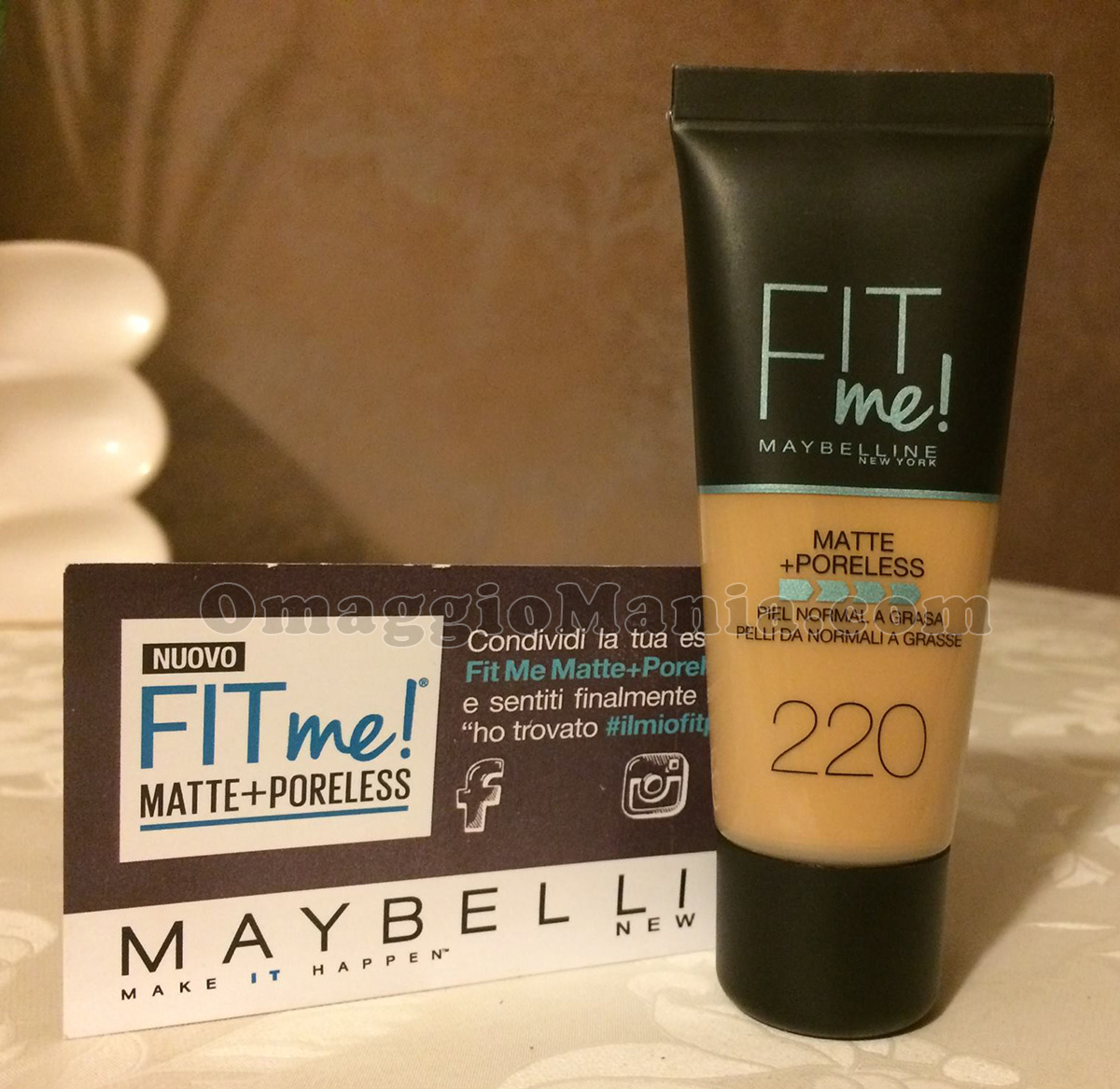 Maybelline Fit Me Matte Poreless di Tatiana