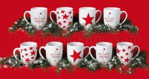 Mug Stelle di Natale con Vismara e Ferrarini