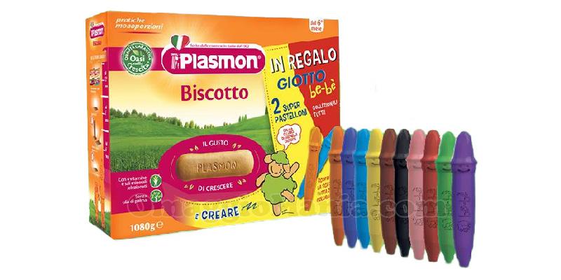 Super Pastelloni Giotto be-bè in omaggio con Plasmon