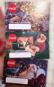 biglietti auguri di Natale Coca Cola di Tatiana