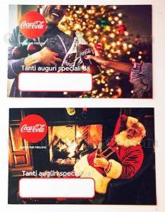 bigliettini natalizi Coca Cola di Michela