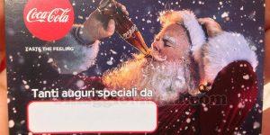 biglietto auguri di Natale Coca Cola di Tatiana