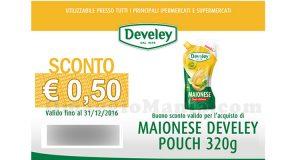buono sconto maionese Develey pouch