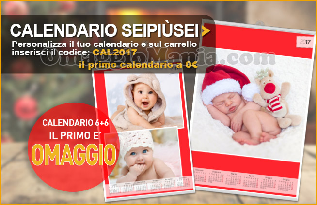 calendario personalizzato SeiPiùSei Fotoservice omaggio