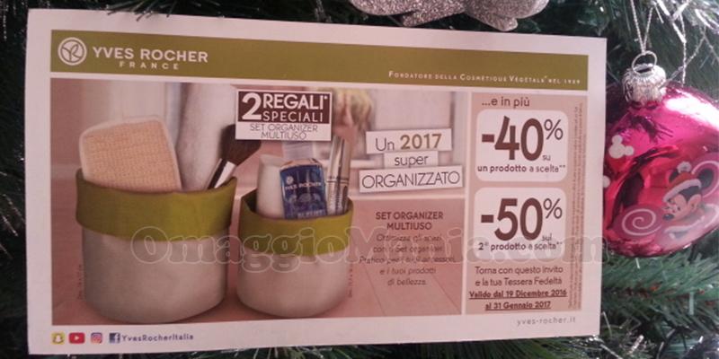 Yves Rocher Calendario Avvento 2020.Set Organizer Gratis Da Yves Rocher Omaggiomania