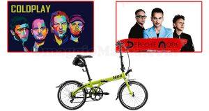 concorso MINI Coldplay Depeche Mode bicicletta