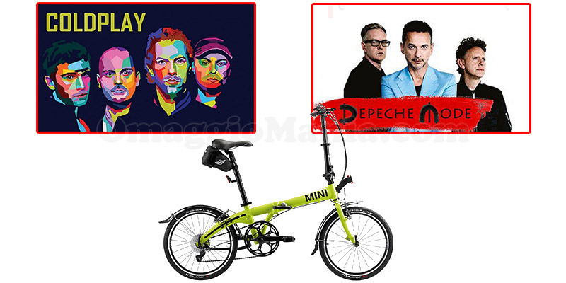 concorso MINI Coldplay Depeche Mode bicicletta