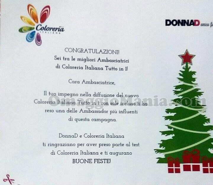 congratulazioni DonnaD e Coloreria Italiana di Nadia