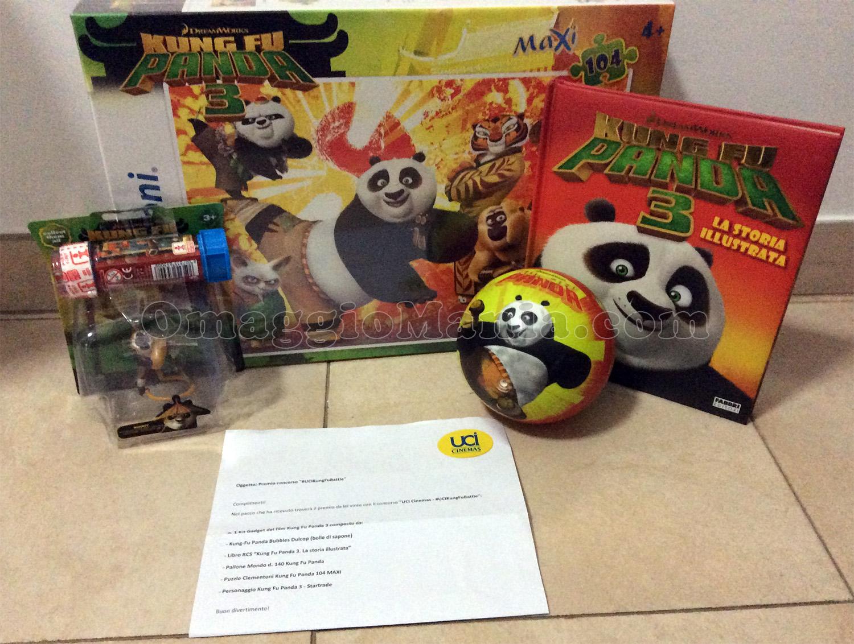 kit di gadget Kung fu Panda di Bendege