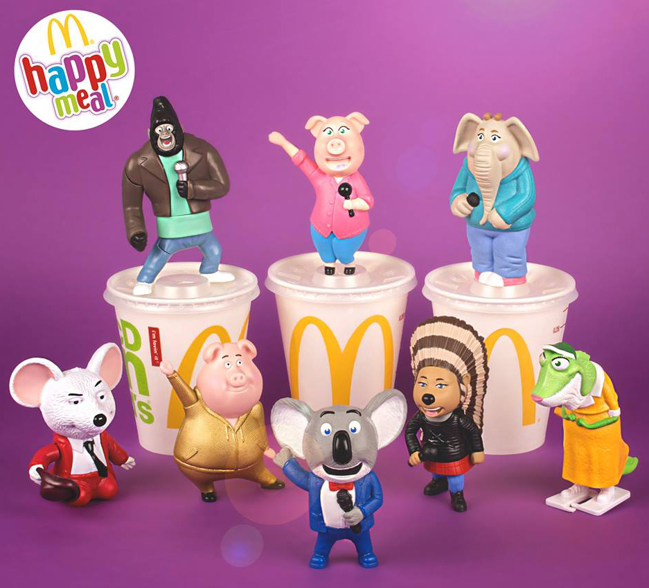 personaggi SING con Happy Meal McDonald's