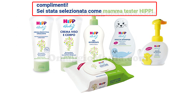 selezione mamme tester HiPP Baby