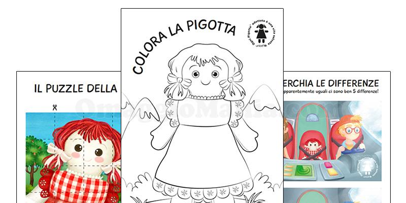 sorpresa libretto da colorare Pigotta