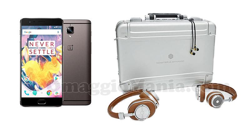 valigetta cuffie e smartphone OnePlus 3T