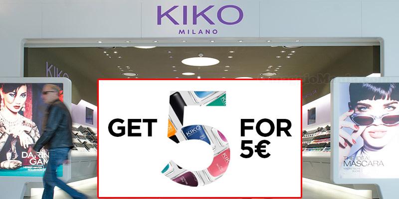 Kiko 5 smalti a 5 euro