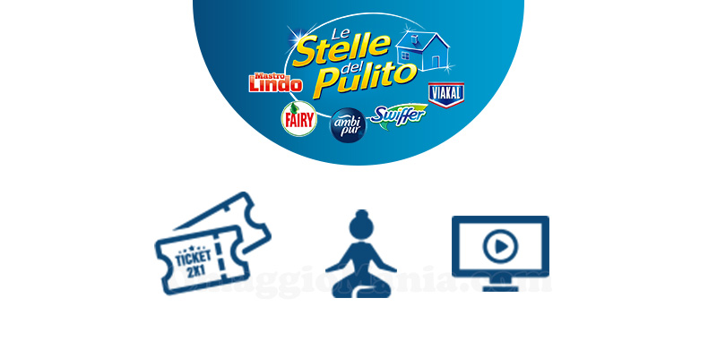 Le Stelle del Pulito in regalo cinema benessere o film in streaming