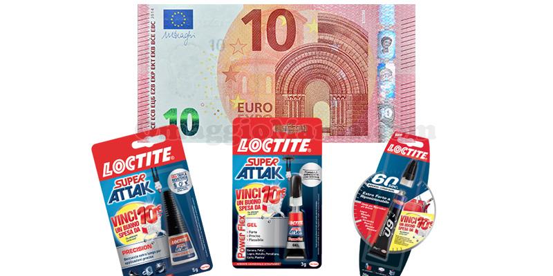 Loctite ti regala buoni spesa da 10 euro
