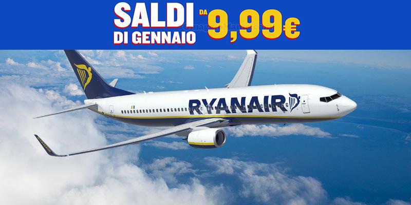 Ryanair saldi gennaio 2017