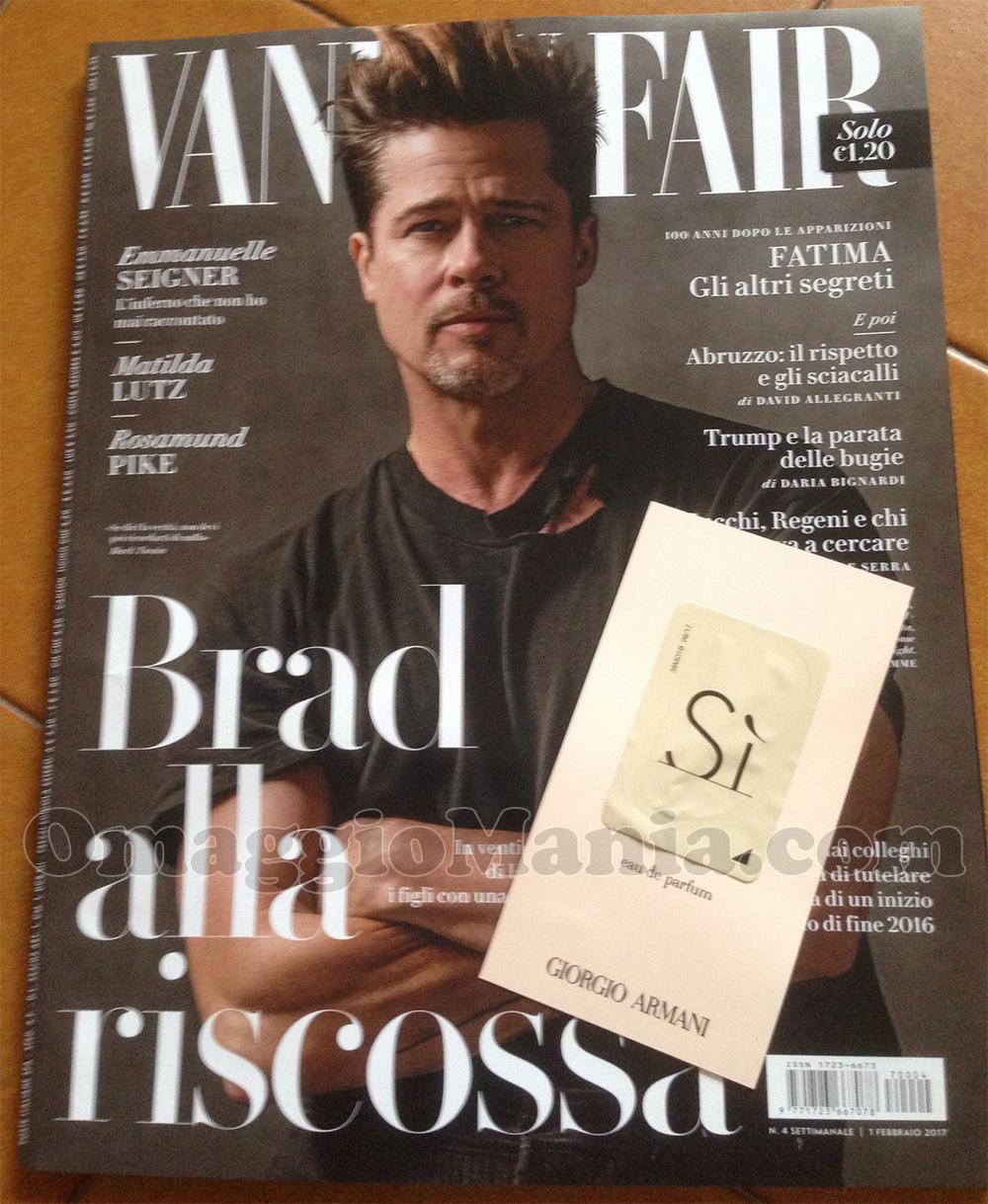 Vanity Fair 4 Gratis Rivista E Cartolina Profumata Di Giorgio Armani Si Omaggiomania