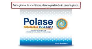 aggiornamento spedizione Polase Ricarica Inverno