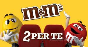 biglietti cinema omaggio con M&M's