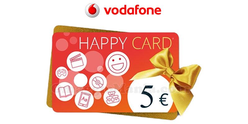 buono IBS Happy Card 5 euro Vodafone