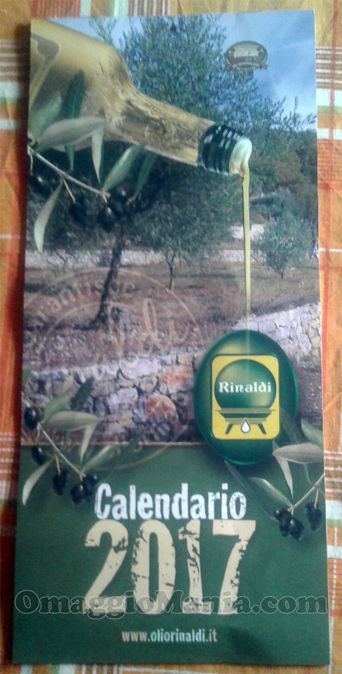 calendario 2017 Olio Rinaldi di Vale