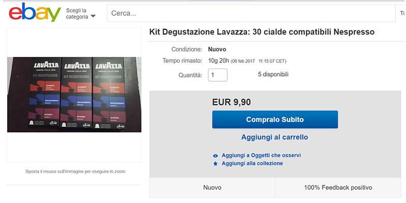 campioni omaggio Lavazza in vendita