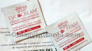 campioni omaggio crema viso Lycocream di Dolcetta