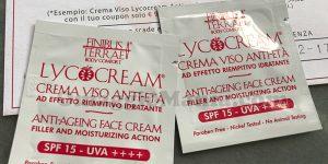 campioni omaggio crema viso Lycocream di Hamal85