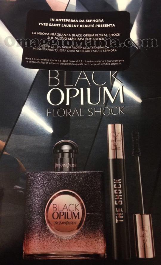 card ritiro taglia prova Yves Saint Laurent Black Opium Floral Shock di Valentina