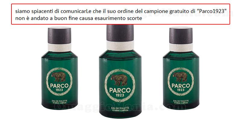 email esaurimento campione omaggio Parco1923