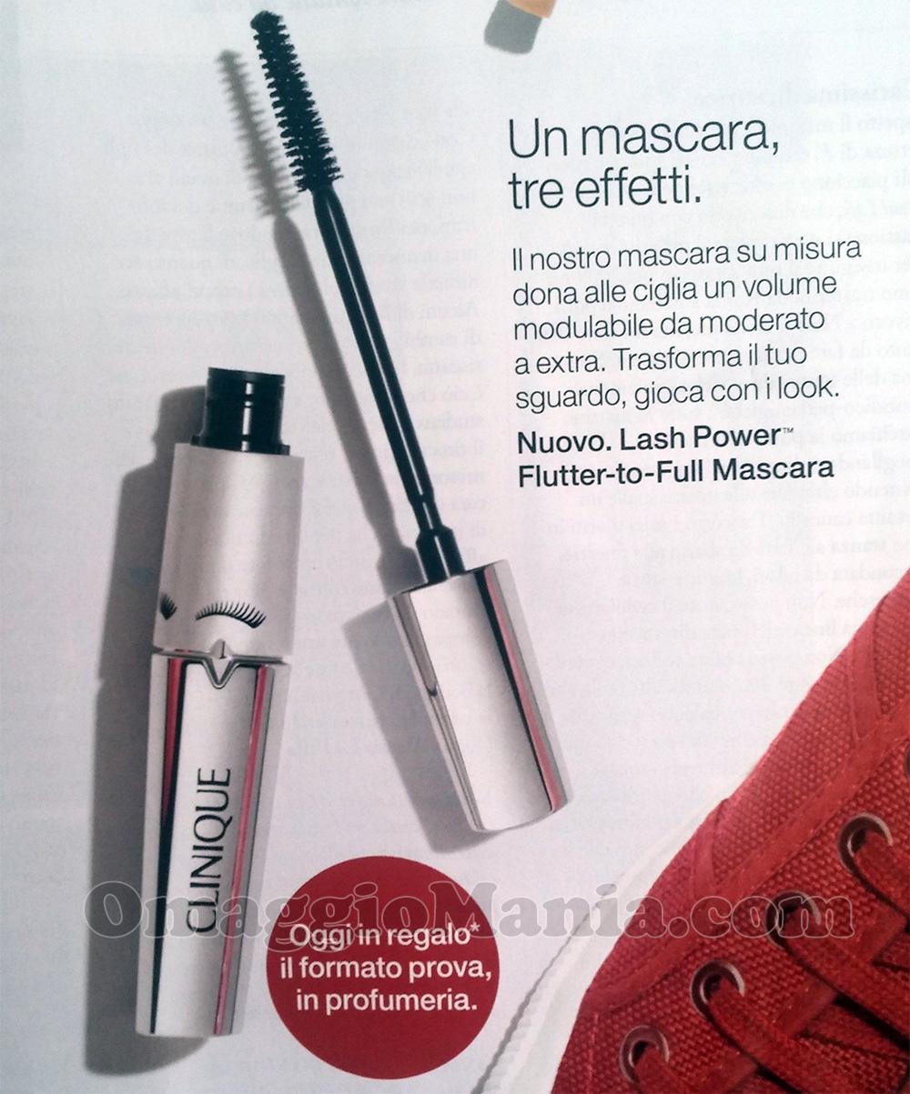 formato prova mascara Clinique Lash Power omaggio