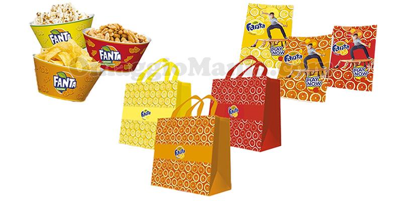 gadget Fanta 2017 shopping bag quaderno snack bowl