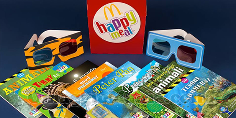 libri 3D McDonald's Happy Meal