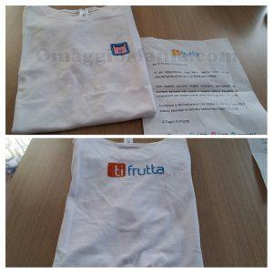 maglietta Ti Frutta ricevuta da Michela