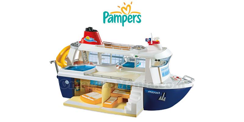 nave da crociera Playmobil con Pampers