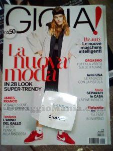 rivista Gioia 4 e campioncino Chanel Blue Serum di Arya