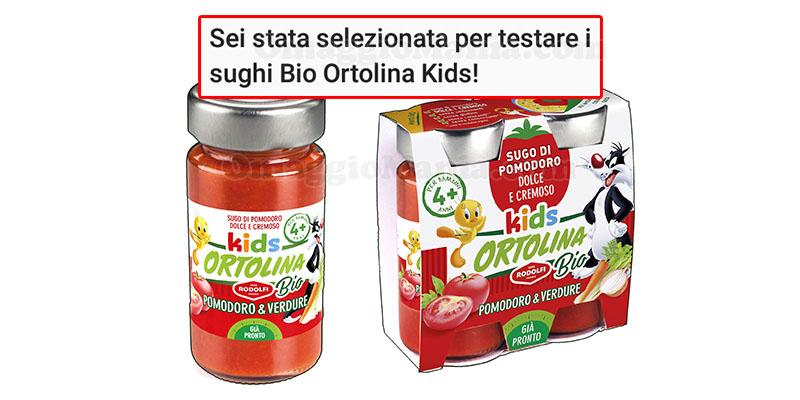 selezione tester Bio Ortolina Kids di Fortunella