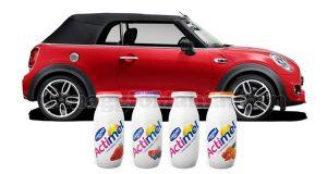vinci Mini Cooper Cabrio S con Actimel