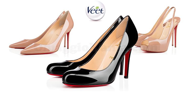 vinci scarpe Christian Louboutin con VEET