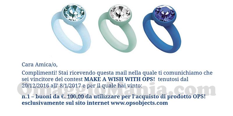 vincita Make a wish with Ops di Ale
