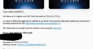 vincita gift card Morellato di Lara