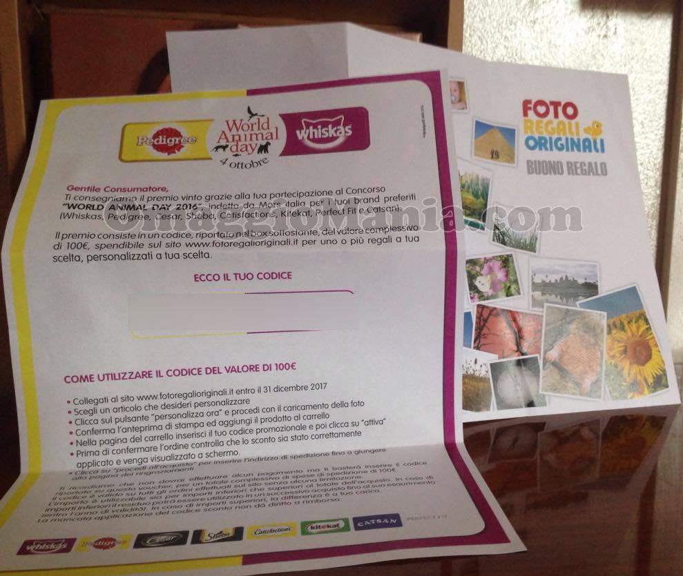 voucher 100 euro World Animal Day di Tatiana