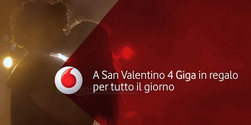 4 Giga in regalo da Vodafone per San Valentino 2017