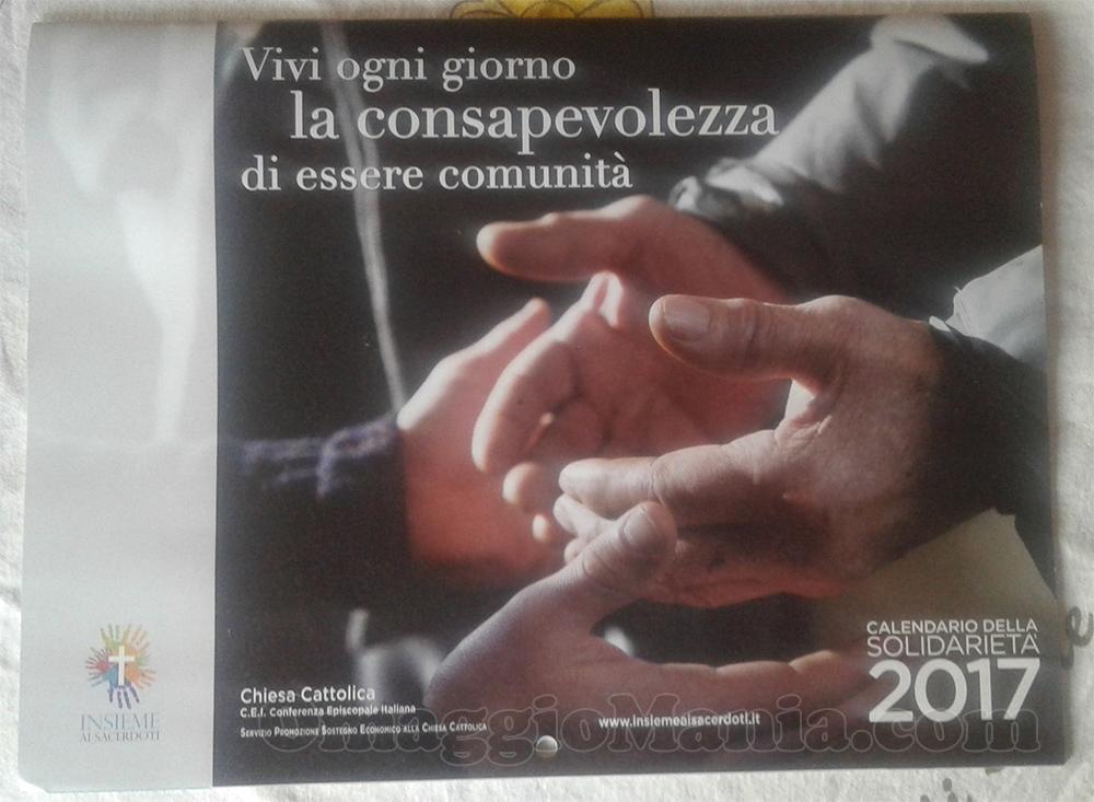 Calendario della Solidarietà 2017 ricevuto da Vale
