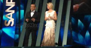 Carlo Conti e Maria De Filippi al Festival di Sanremo 2017